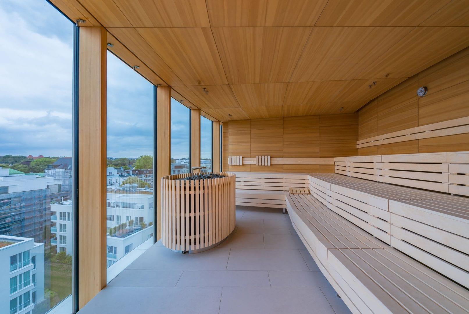 Sauna Studioline Sonderanfertigung gewerblich