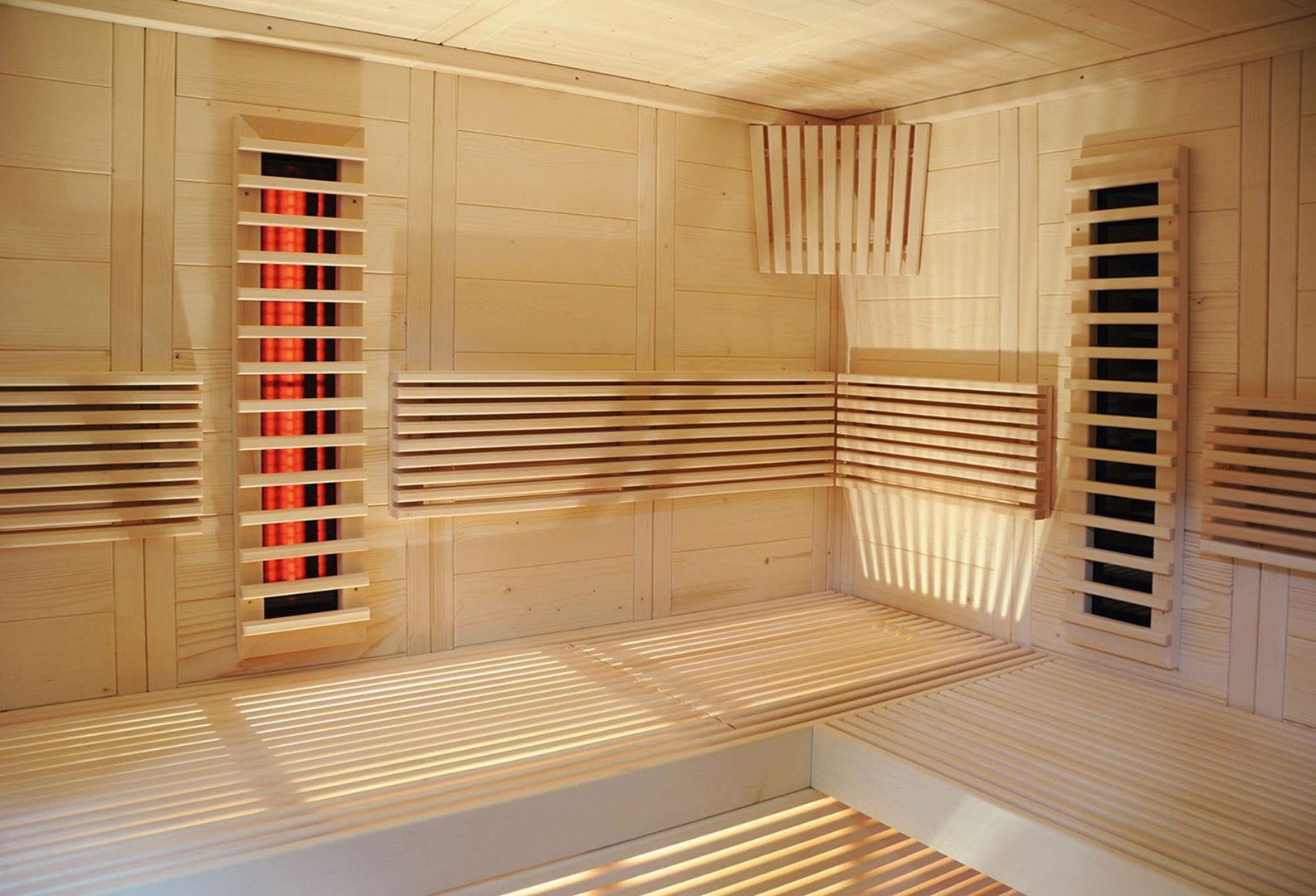 Innenansicht Sauna