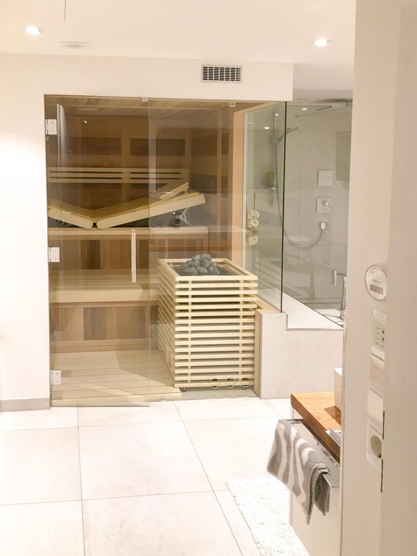 Sauna Ultraline Glasfront Glaseck 2